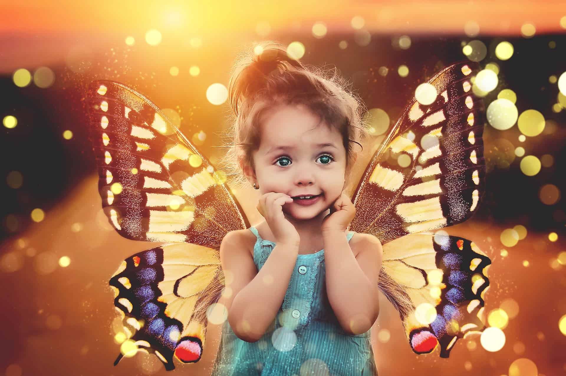 osteopahtie bei Kinderlosigkeit, Kind mit Flügeln